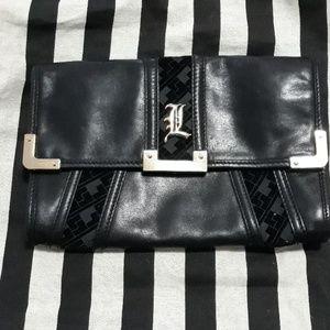 L.a.m.b. leather clutch